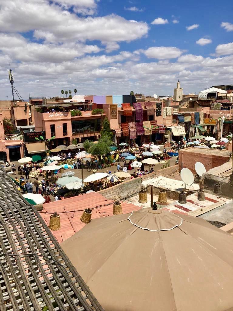 nomad marrakech vue terrasse